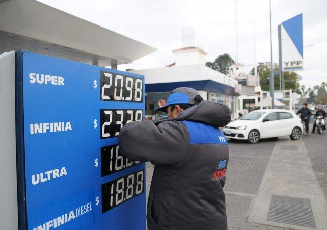 Los combustibles podrían aumentar otra vez esta semana