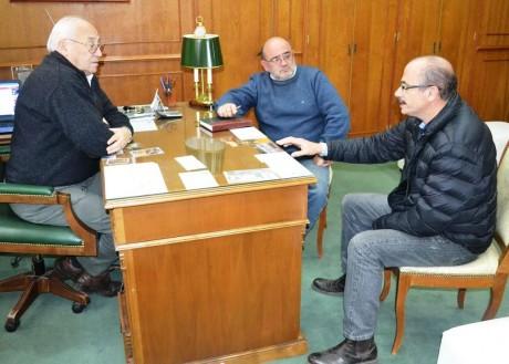 Tres Lomas - Alvarez con autoridades de agroindustria