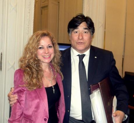 Estévez, Mónica con Carlos Zannini