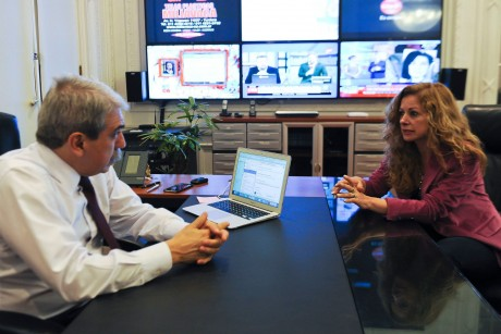 Estévez, Mónica con Aníbal Fernández