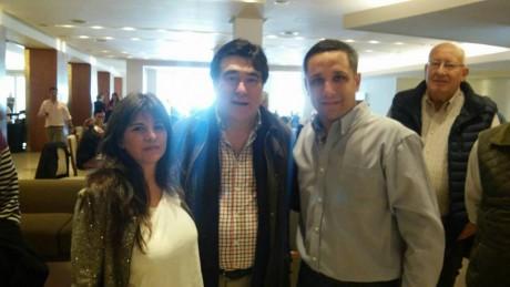 Fernández, Diego con Carlos Zannini y Andrea Villa