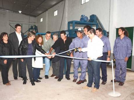 Guaminí - Inauguración planta de reciclado