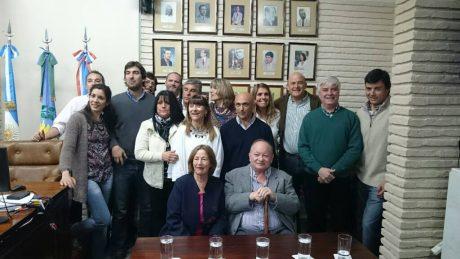 Concejales con Norberto Rosa y familia
