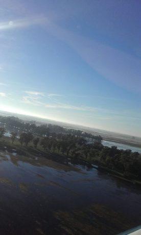 Ameghino Inundaciones imágen aérea