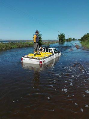 General Villegas imagen de la inundación