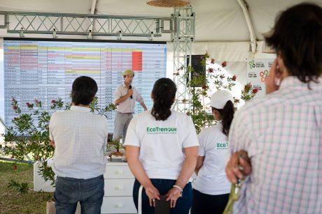 Trenque Lauquen Rodríguez Mera hablando en la carpa que se levantó en la Expo 2016