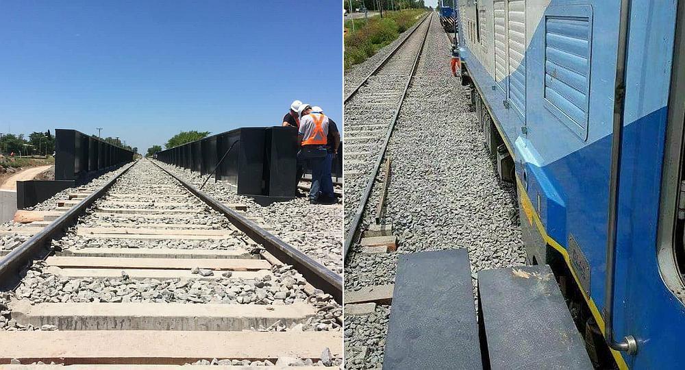 Inauguran vías pero los trenes no pueden pasar