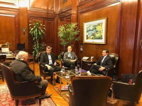 Pacheco con González Fraga, Buil y Hunt
