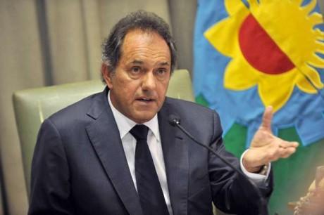 Scioli, Daniel, gobernador de Buenos Aires