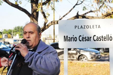 Trenque Lauquen - Plazoleta Mario César Castelló - Habla José Andiarena