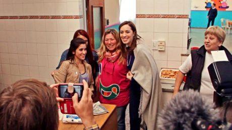 Vidal, María Eugenia en Casa del Niño con personal