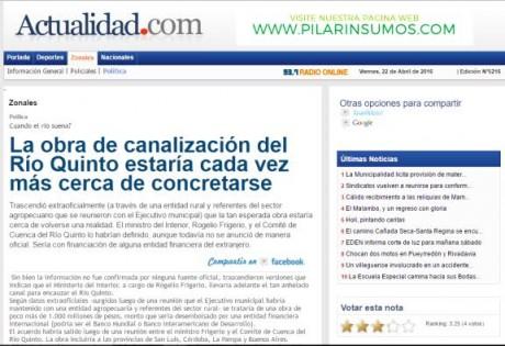 Río Quinto - Diario Actualidad Villegas