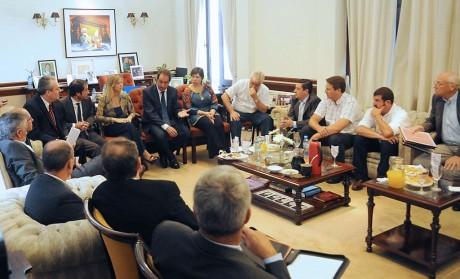Scioli con intendentes de la 6ta sección electoral