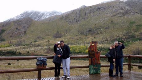Sierra de la Ventana con nieve. Foto: La Nueva