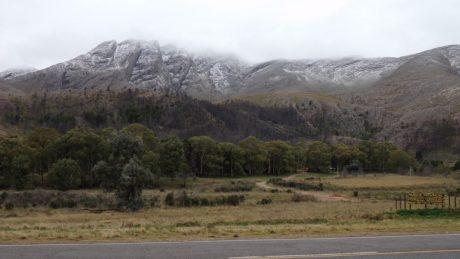 Sierra de la Ventana con nieve
