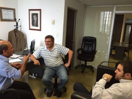 "Moccero, Ricardo con Abarca y ""Nacho"" González"
