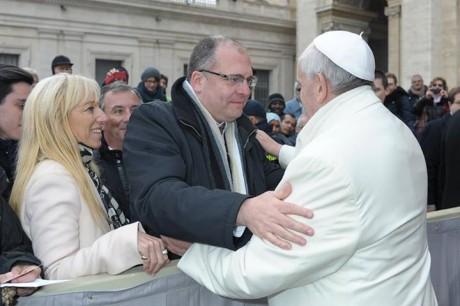 Martín Leopoldo Díaz y el Papa Francisco