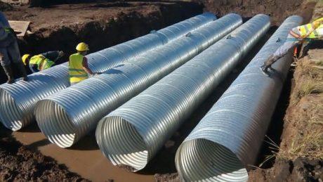 General Villegas tubos para alcantarillas - Foto: diarioactualidad.com