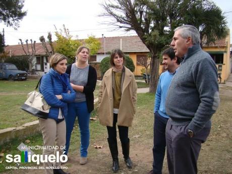 Salliqueló - Intendente Hernández con funcionarios provinciales