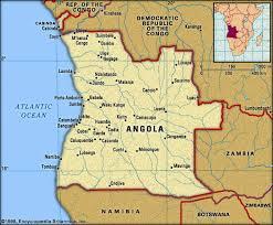 Angola (mapa político)