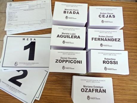 Beruti - Candidatos a Delegado