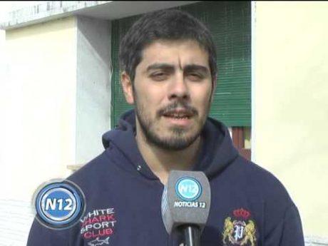 Castrillón, Lucas entrevistado por Canal 12