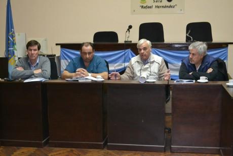Battistella, Walter reunión  con concejales de Pehuajó