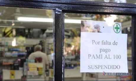 Farmacias no atenderán al PAMI