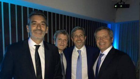 Randazzo, Frigerio y Monzó en el casamiento de la hermana del diputado nacional