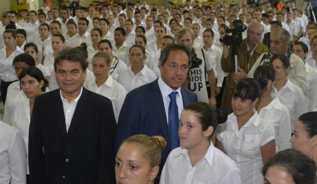 Scioli en Quilmes - Policía Local