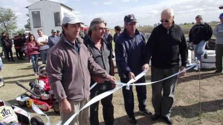 Tres Lomas - Álvarez en la inauguración del kartódromo