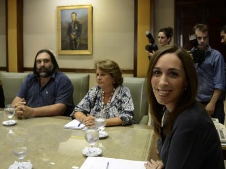 Vidal, María Eugenia con docentes