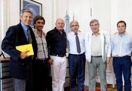 9 de Julio - Delgado con Aníbal Fernández
