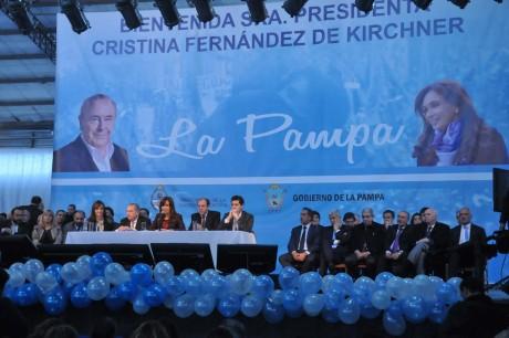 Cristina en La Pampa