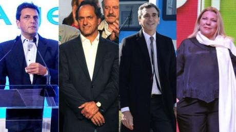 Massa, Scioli, Randazzo, Carrió