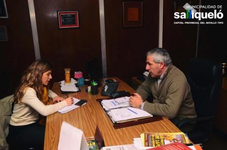 Salliqueló Hernández Jorge con concejal Tres Arroyos