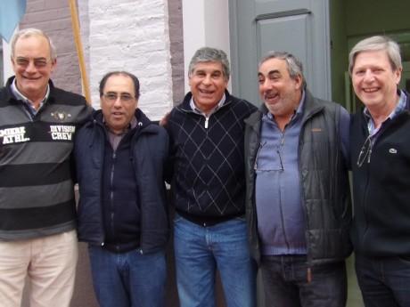 Beruti - Delegado con concejales e intendente