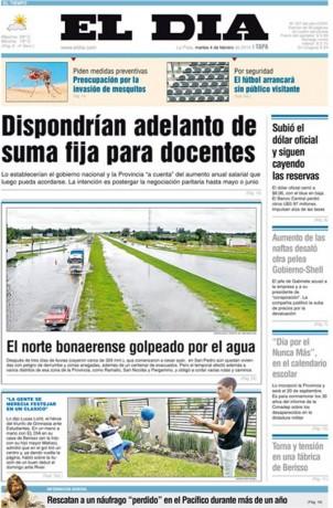 El Día - La Plata - martes 4 de Febrero 2014