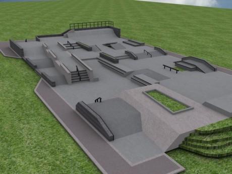 Tres Lomas - proyecto de la pista de Skate