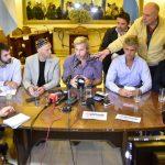 Santa Rosa conferencia de prensa de Frigerio y Bergman
