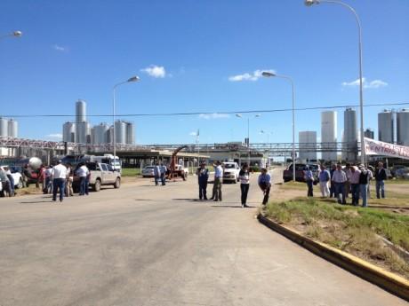 Lechería - Protesta frente a La Serenísima