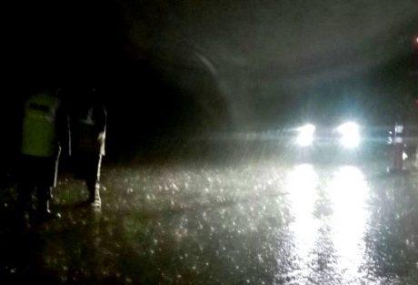 Ruta 35 cortada por el agua