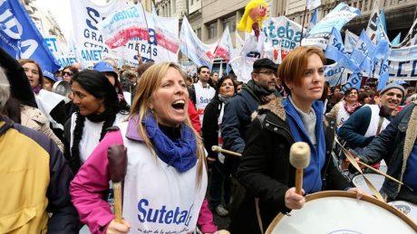 Docentes manifestación