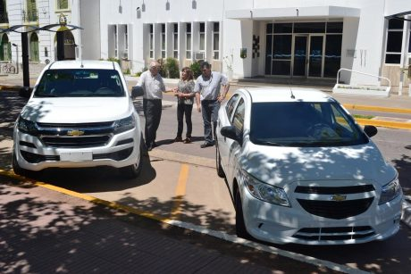 Tres Lomas vehículos Chevrolet adquiridos con aportes del Fondo de Seguridad