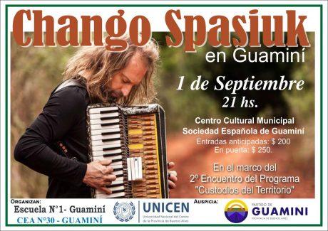 Spasiuk, Chango presentación en Guaminí