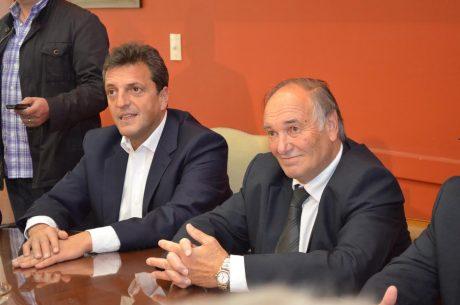 Diputado Hernández de La Pampa con Sergio Massa