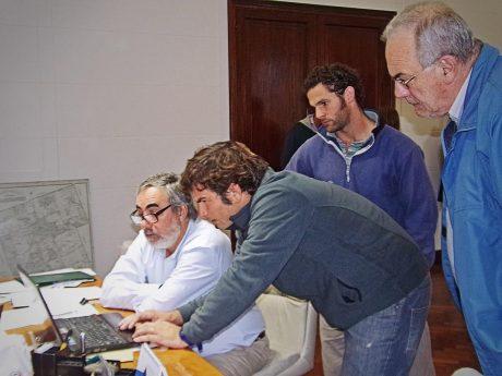 Fernández con Costa, Kobarsky y Zambiasio