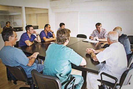 Trenque Lauquen - Silvani y Orellana con médicos