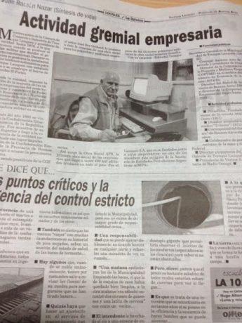 Nazar, Juan Ramón artículo publicado en la edición de este jueves