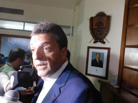 Massa, Sergio en Santa Rosa. Foto: prensa y difusión gobierno de La Pampa